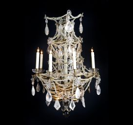 A French Louis XVI  rock crystal chandelier.