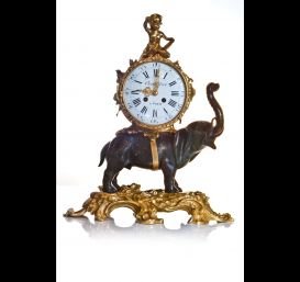 Anique French Louis XVI elephant clock.