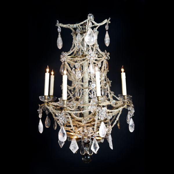 Dd antiques gallery a french louis xvi rock crystal chandelier a french louis xvi rock crystal chandelier aloadofball Image collections