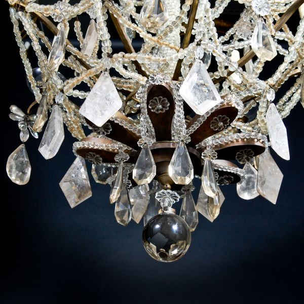 Dd antiques gallery a french louis xvi rock crystal chandelier a french louis xvi rock crystal chandelier mozeypictures Image collections