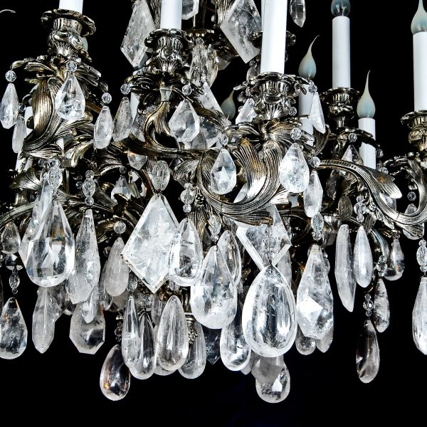 A Exquisite Antique French Louis XV silvered bronze & cut rock crystal  chandelier. - D&D Antiques Gallery :: A Exquisite Antique French Louis XV