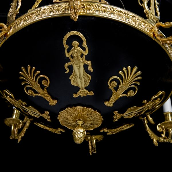A Fine Antique French empire chandelier. - D&D Antiques Gallery :: A Fine Antique French Empire Chandelier.