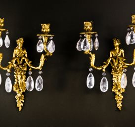 Set of 4 French Louis XVI sconces.