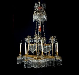 A spectacular  Antique period Russian palm tree chandelier.