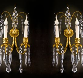 A pair of Superb antique Russian ormolu sconces,ca.1820.