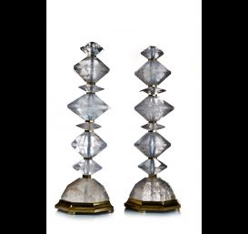 Pr. cut Rock crystal lamps.